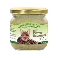 Vegane Katzennahrung mit Katzengamander