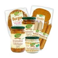 »Vegi-Grillpaket« mit Gurkenfrisch-Dip