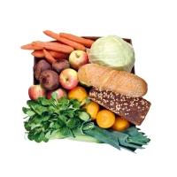 Gemüse- & Obst-Paket mit Brot