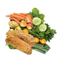 Großes Gemüse- & Obst-Paket mit Brot